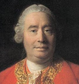 David Hume's ancient face.